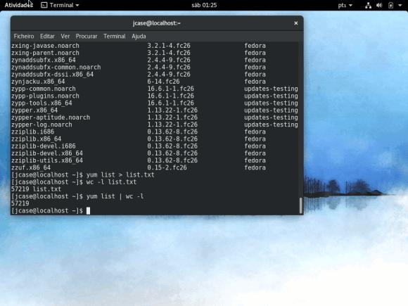 fedora 26 alpha running under VirtualBox