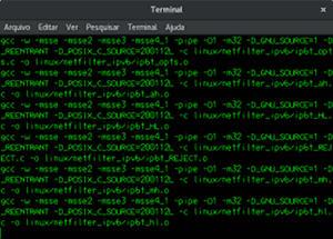 captura do emulador de compilação