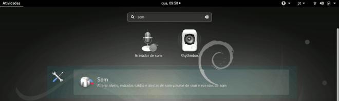 como encontrar os ajustes de som no GNOME