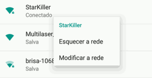 android configuração da rede.
