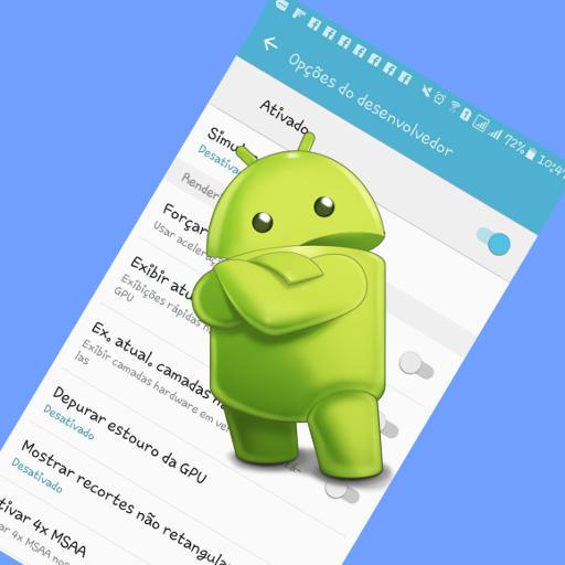 android painel de opções do desenvolvedor