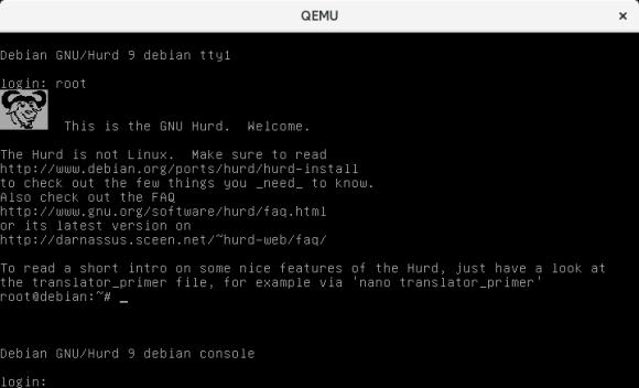 gnu hurd terminal