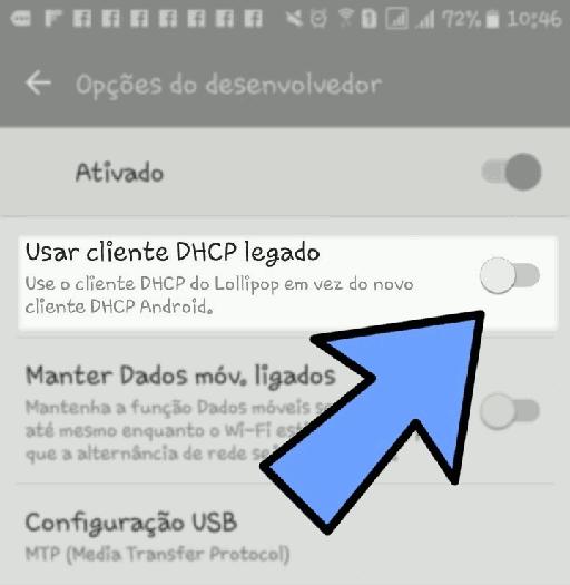 android usar cliente dhcp legado
