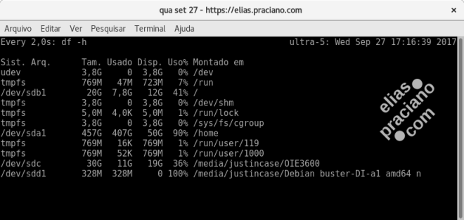 linux free watch