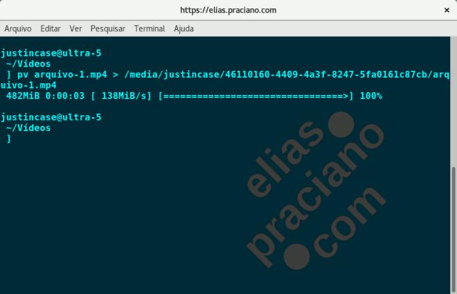 linux tranferencia de arquivo com comando pv