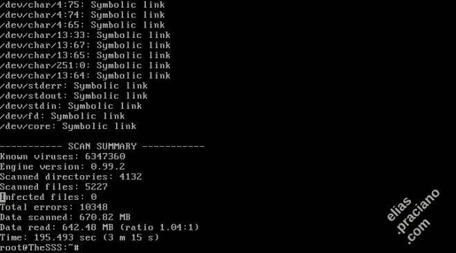 linux clamav antivirus