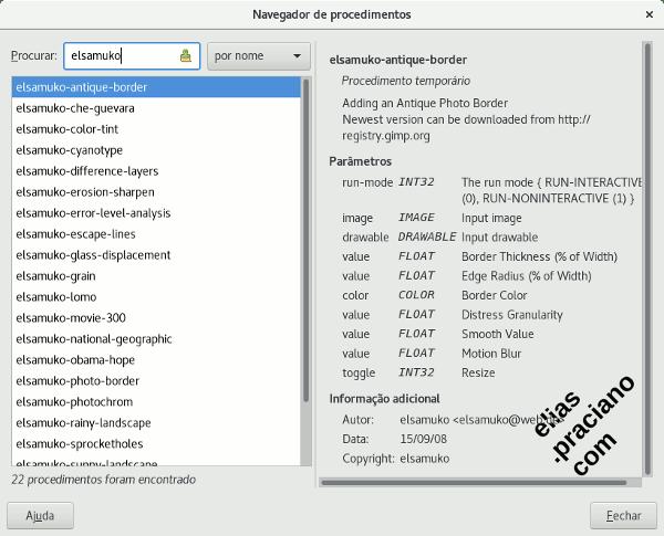 gimp navegador