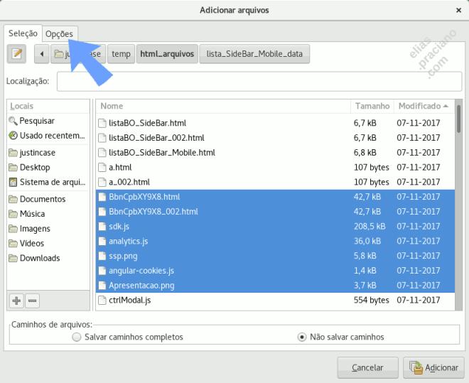 como criptografar arquivos no Linux usando o xarchiver