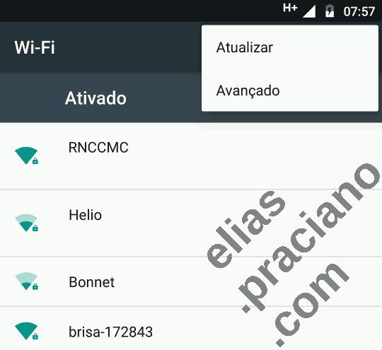 wi-fi menu avançado