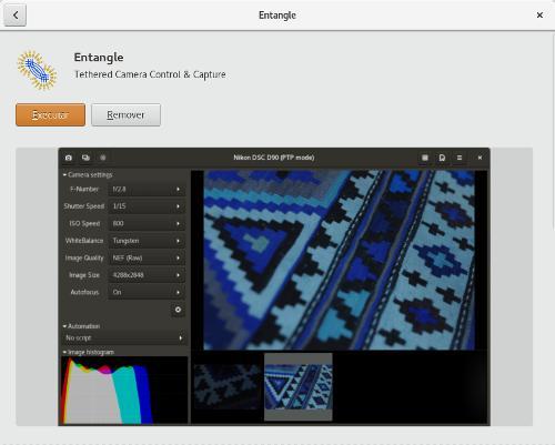 Entangle camera tethering for linux