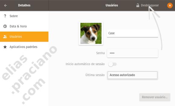 pop os configurações de usuário
