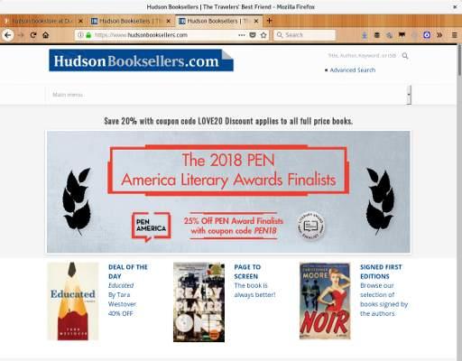 Imagem do site Hudson books