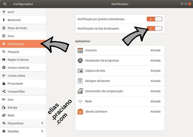 ubuntu notificações