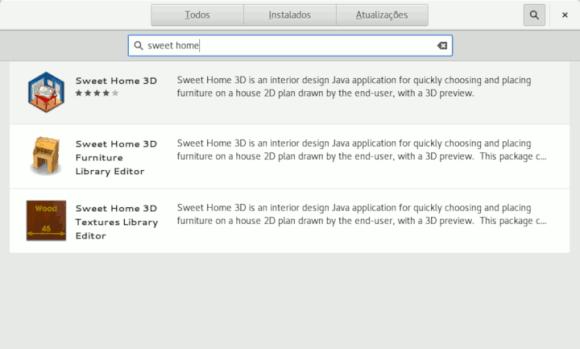 Sweet home 3D opções de instalação