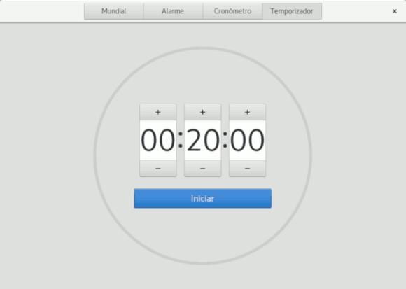 GNOME-watch temporizador e timer