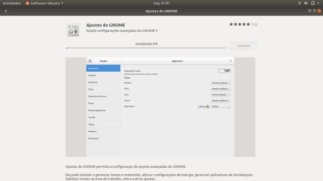 Ubuntu painel de instalação