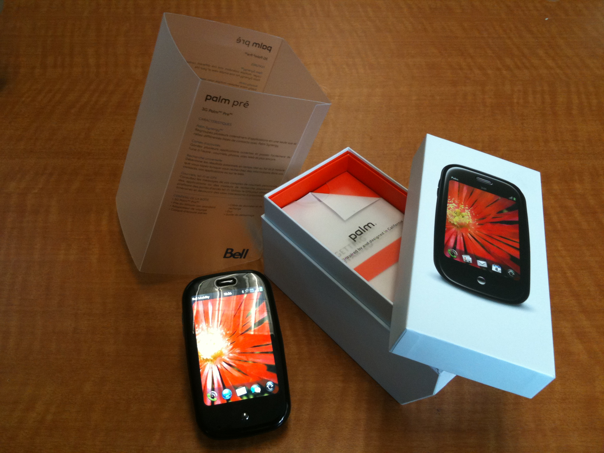 The Palm Pre and its well-designed packaging.