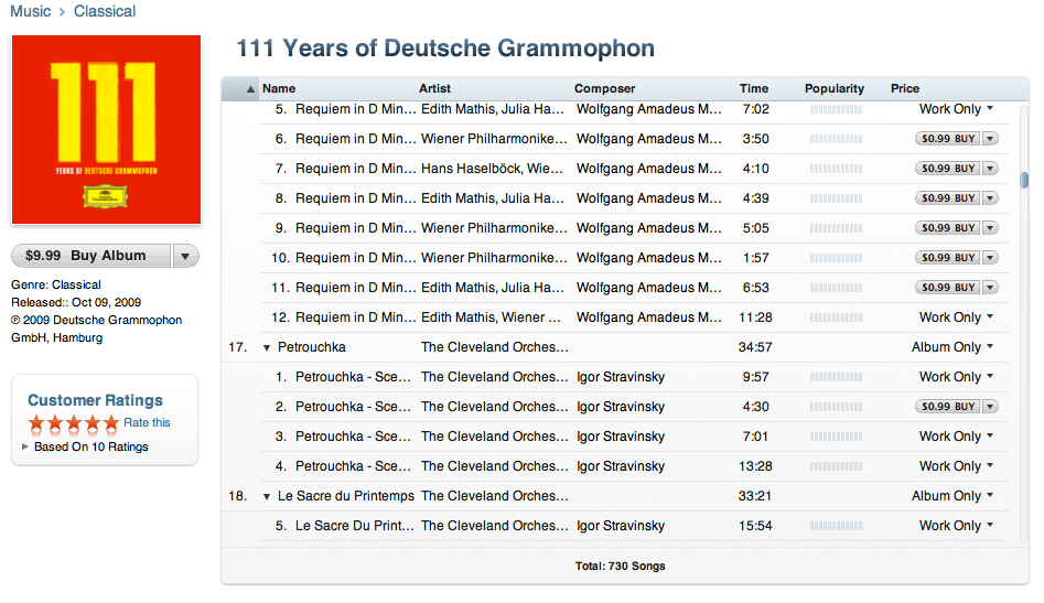 111 Years of Deutsche Grammophon for $9.99