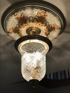 Light Ring Fixture Gold Embellishment