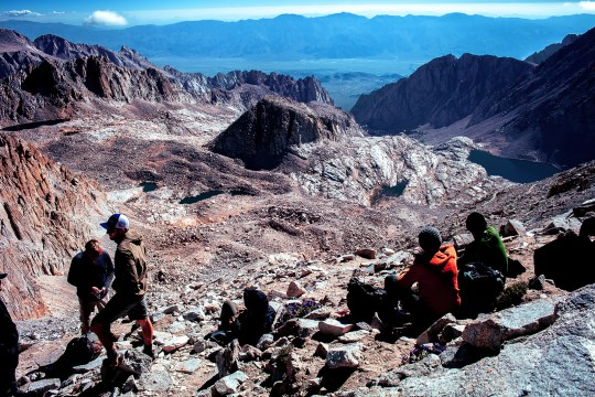trail crest, mount whitney, california