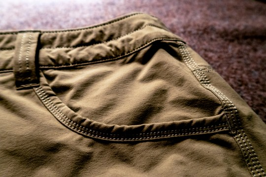 Stitching on the Quandary shorts is double and triple