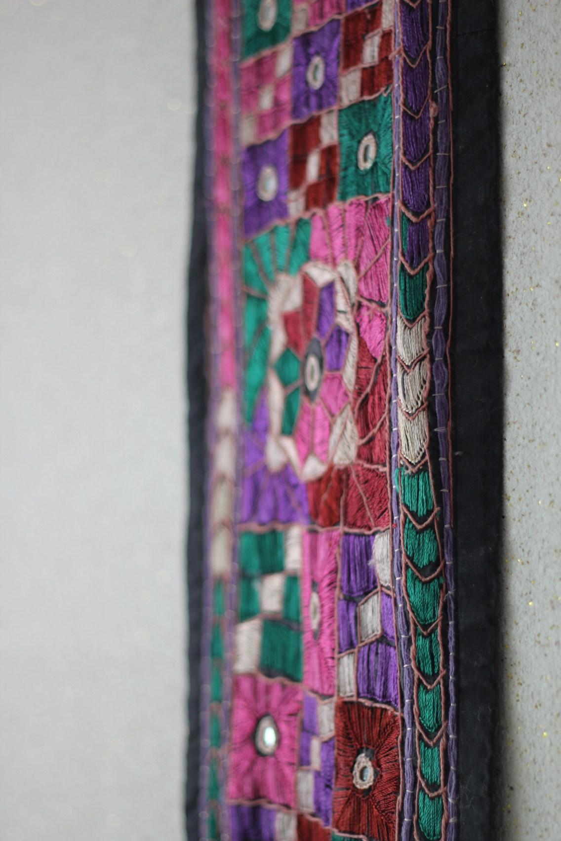 Decorative fabric D gave me. Its colors make me happy.