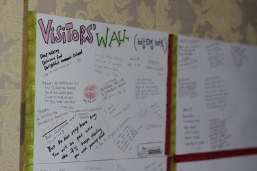 My home's Visitor's Wall. Always good to read the comments.