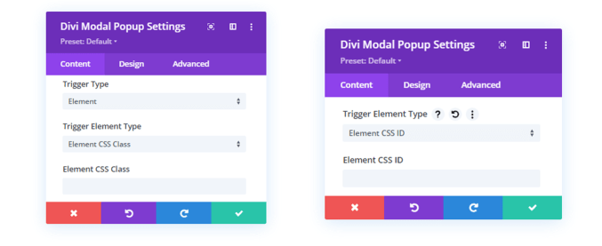 Element CSS ID and Class