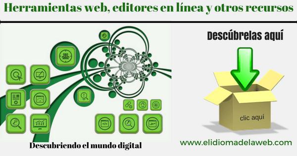 Herramientas web, editores en línea y otros recursos