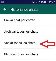 historial chats whatsapp