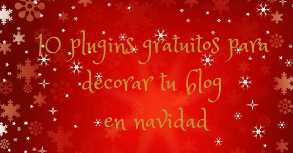 plugins para decorar blog en navidad