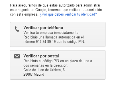 verificación google my busines