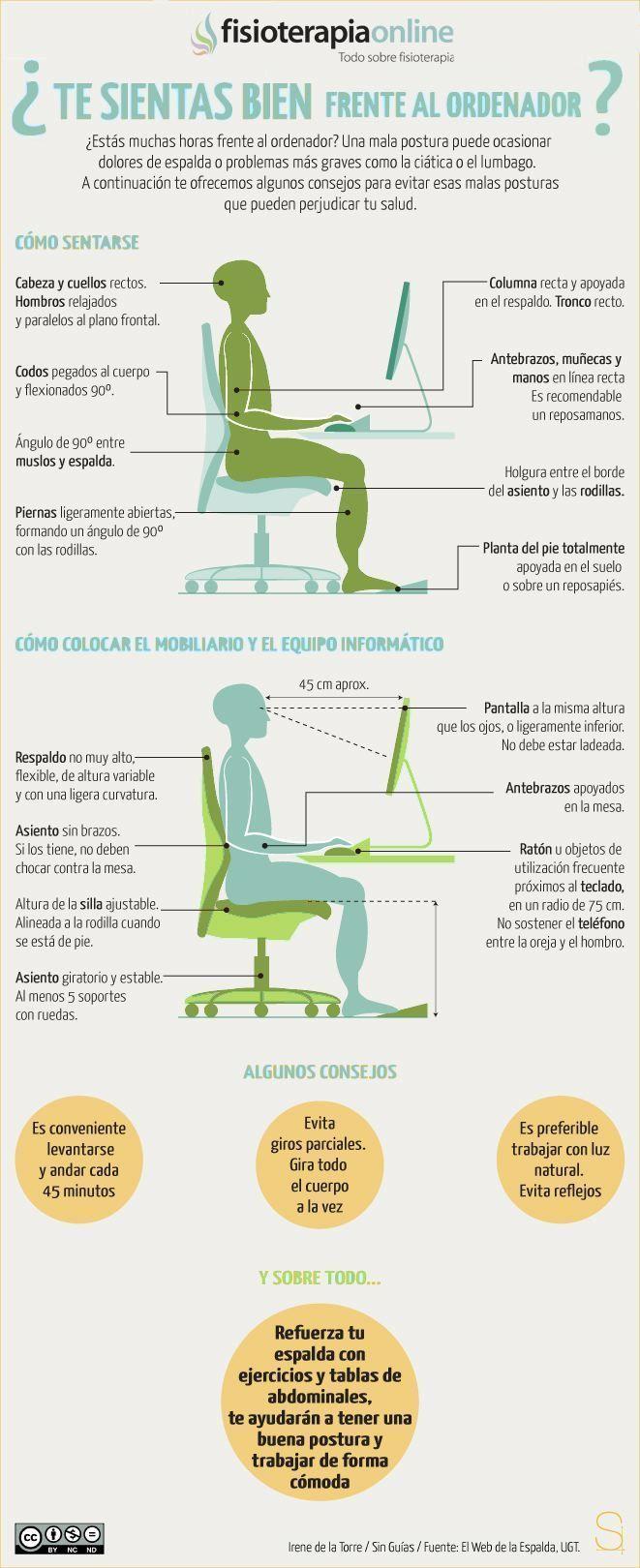 Cómo sentarte de forma correcta frente al ordenador y evitar dolores de espalda