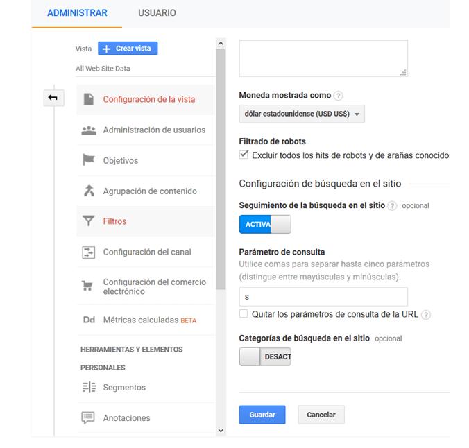 Guía para Google Analytics