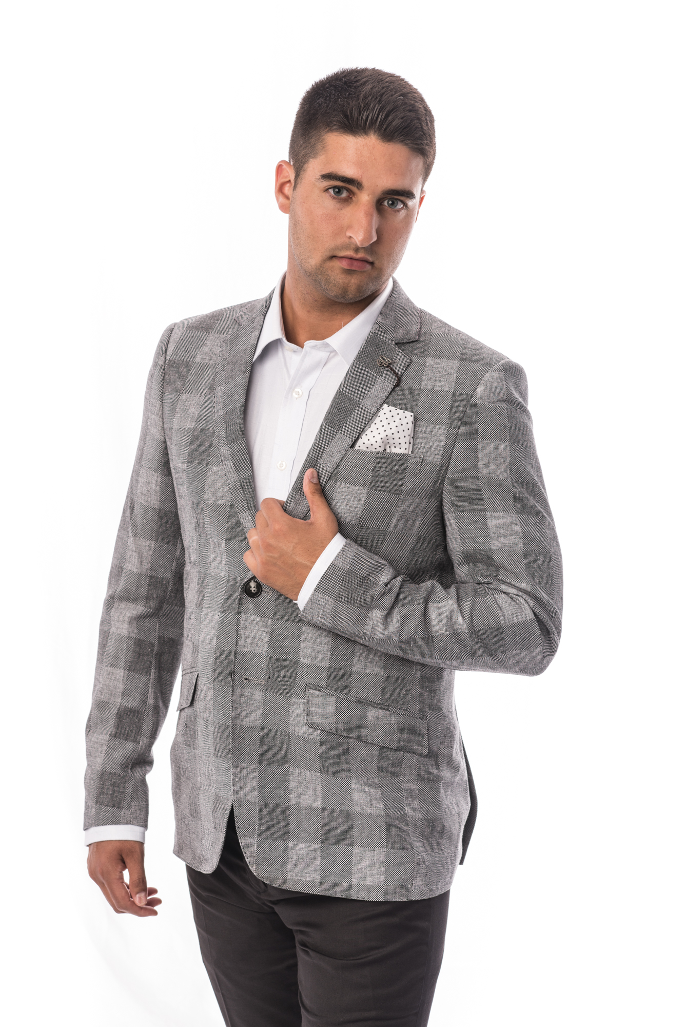 big checkerboard men blazers