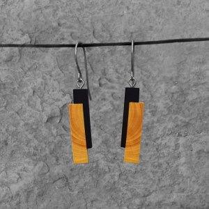 Boucles d'oreille Barre duo