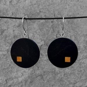 Boucles d'oreille Structure Ébène