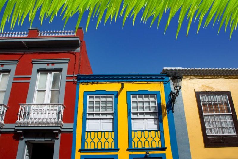 Ilhas Canárias: O estilo multicolorido de algumas moradias tornam a visitação alegre e intuitiva
