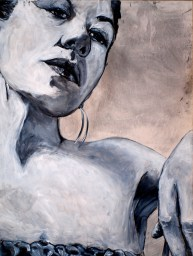 Sin Titulo 3'x4' Gesso and Charcoal (2011)