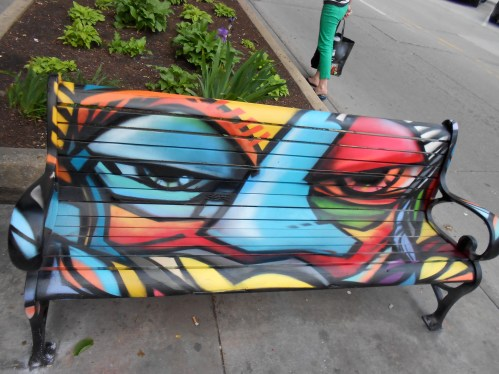 Bench in Downtown Iowa City