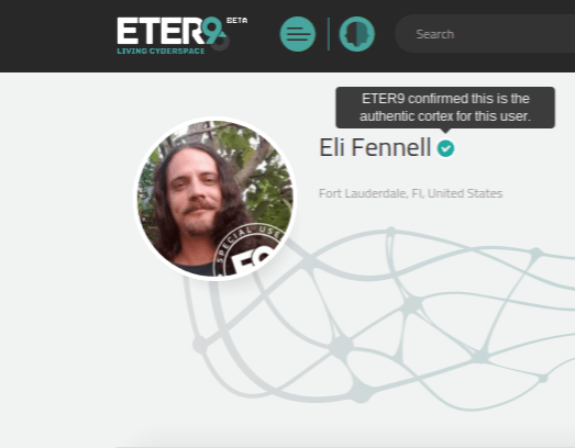 ETER9 Special User Badge and Verified User Check Mark