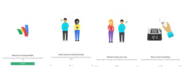 GoogleWallet WelcomeScreens