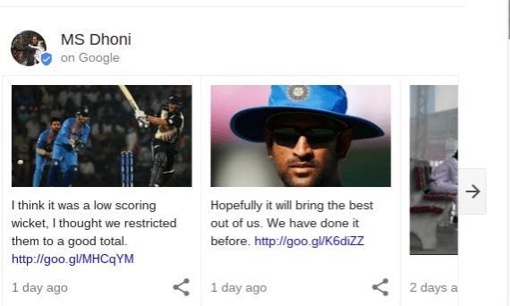 Google Posts Live Sports Cards