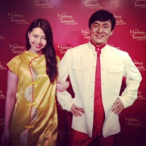 Me with Jackie Chan as my escort during my recent trip in Bangkok :)