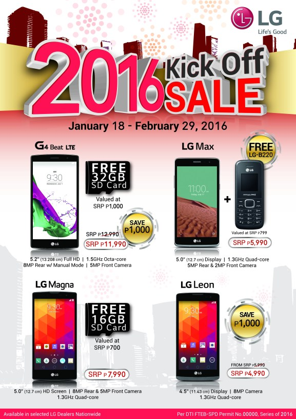 Don't miss the chance to get your favourite LG handsets with freebies and slashed off prices for a limited time only