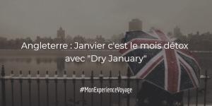 """Angleterre : Janvier c'est le mois détox avec """"Dry January"""""""