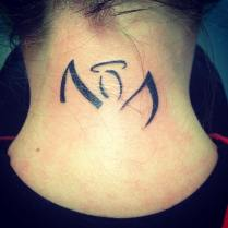 Joelle Riley I have the original angel wings symbol tattooed on the back of my neck for my brother!