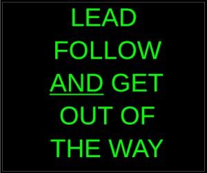 Lead Follow And GOOTW