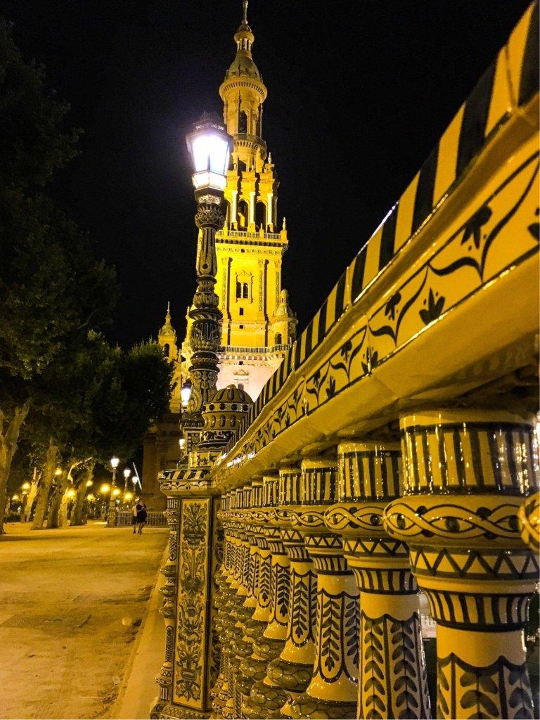 Siviglia_Plaza de Espana_notte