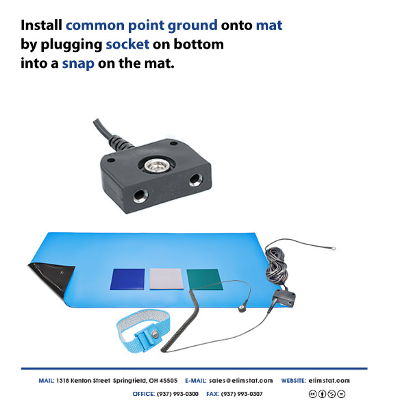 Connect Common Point Ground to ESD Mat